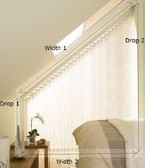 Windows Vertical Blinds - sloping vertical blinds