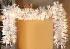 white garland ideas for adding white christmas decorations in a home
