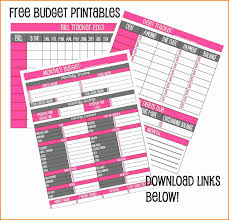 Free Budget Spreadsheets 3 Budget Sheets Printable Free Expense Report