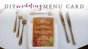 Diy Wedding Menu Cards Diy Wedding Decor Gorgeous Wedding Menu Cards Youtube