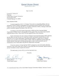 Half Of The United States Bill Nelson Asks U S Olympic Committee How It U0027s Preparing For