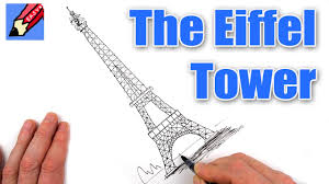 how to draw the eiffel tower real easy youtube