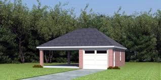 Carport With Storage Plans Garage Plan 45792 At Familyhomeplans Com