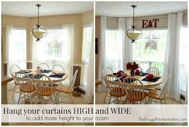 Hang Curtains From Ceiling Designs Hang Curtains High And Wide Www Elderbranch