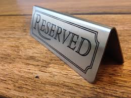 metal reserved table signs metal table signs reserved signs and numbers sister wedding