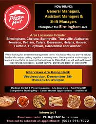general manager assistant manager shift manager job at pizza hut