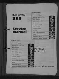 workshop manual daihatsu 3 cyl 993cc efi cylinder engine
