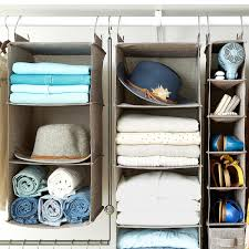 Hanging Organizer Grey 3 Compartment Hanging Sweater Organizer The Container Store