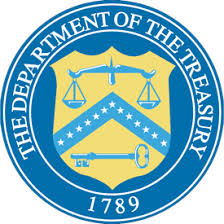 """The Department of the Treasury 1789"" seal"