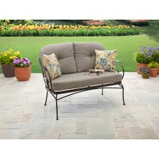 Outdoor Patio Loveseat Better Homes And Gardens Myrtle Creek Outdoor Cushioned Loveseat