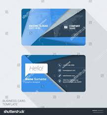 modern creative business card template flat stock vector 400996597