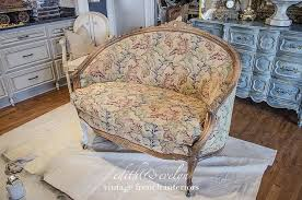 Antique French Settee Easy Upholstery A French Settee And Grain Sack Scraps Hometalk