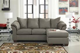 Sofas With Chaise Contemporary Sofa Chaise With Flared Back Pillows By Signature
