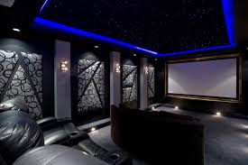Home Theater Room Design For Goodly Modern Theater Room Home