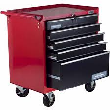 rolling storage cabinet with drawers portable top chest tool box