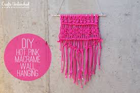 diy macrame pink wall hanging tutorial