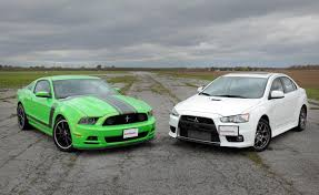 cars like a mustang ford mustang 302 vs mitsubishi lancer evo car reviews