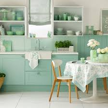Green And Blue Kitchen New Paint Colours From Sanderson Kitchen Sourcebook