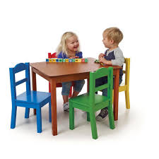 tot tutors table and chair set amazon com tot tutors table chair set dark pine baby