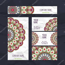 Invitation Business Cards Set Retro Business Card Vector Background Card Or Invitation