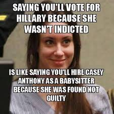 Anthony Meme - saying you ll vote for hillary because she wasn t indicted is like