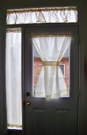 Front Door Window Curtains Arched French Door Curtains U2013 Home Interior Plans Ideas French