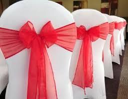 organza chair sashes 100 organza chair sashes reception decoration tradesy