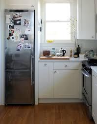 studio kitchen ideas ore studios kitchen with slim refrigerator remodelista kitchen
