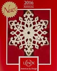 lenox 2016 snow fantasies snowflake ornament ebay