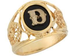 yellow gold onyx letter d modern ladies filigree initial ring jl