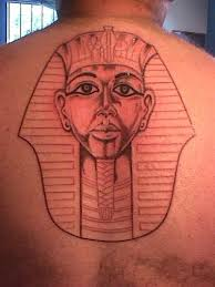 egypt egyptian pyramids small and large back piece tattoo image