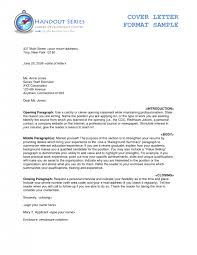 cover letter how to type a cover letter example of how to type a
