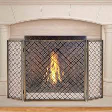 pilgrim 50 u0027 u0027 x 30 u0027 u0027 antique brass hartwick tri panel fireplace