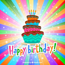 colorful birthday greeting card vector free download