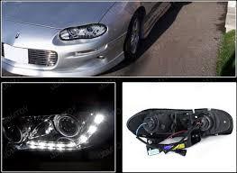 02 camaro headlights 98 02 chevrolet camaro chrome r8 style projector led headlights