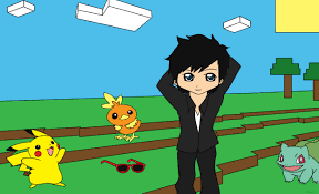 captainsparklez minecraft captainsparklez fan art with pokemon by celgirl101 on deviantart
