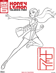 big hero 6 coloring pages activity sheets and printables