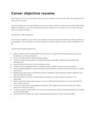 resume objective sales resume career objective example broker