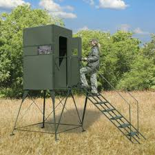 Deer Hunting Tower Blinds Deer Hunting Blind With Full Door And 5 U0027 Stand Texas Hunter Products