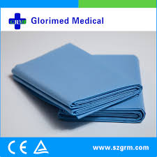 Drape Towel Non Woven Round Hole Sterile Fenestrated Towel Drape With Adhesive