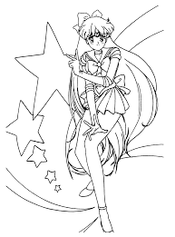 coloring page sailormoon coloring pages 58