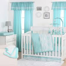 White Crib Bedding Sets by The Peanut Shell 4 Piece Baby Crib Bedding Set Teal Blue