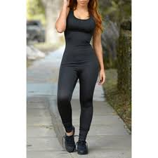 bodycon jumpsuit s color sleeveless scoop neck bodycon jumpsuit black s
