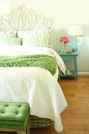 baroque matelasse bedding in bedroom farmhouse with greige