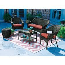 living accents verona stackable wicker chair deep seating chairs