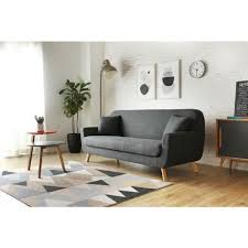 canape gris anthracite lena canapé scandinave 3 places gris anthracite 2 coussins