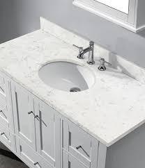 48 In Bathroom Vanity With Top Madeli Torino 48 Matte White Bathroom Vanity Countertop In