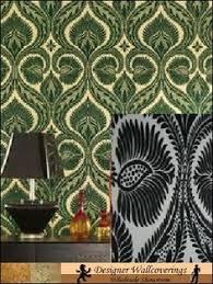 Wallpaper For Home Interiors by Diana Uk Damask Velvet Flocked Wallpaper 01 Cream On Silver