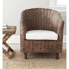 Safavieh Home Furniture Amazon Com Safavieh Home Collection Omni Brown Glaze Barrel Chair