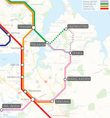 Link Light Rail Map Maps U2013 East Auckland Rail Link